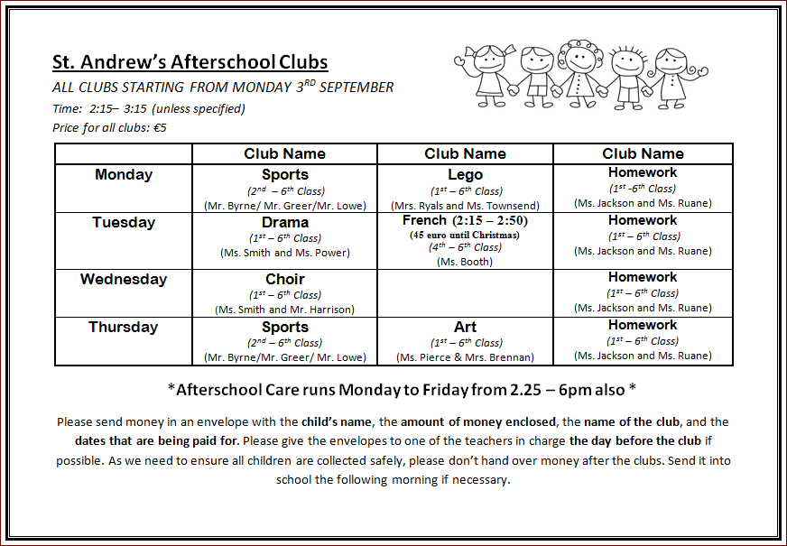 afterschool-clubs-timetable